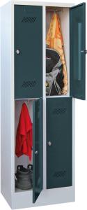 Bild von Garderobenschrank 2 Abteile mit je 300 mm, Total 4 Fächer